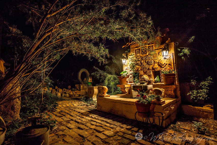 Simpson Hotel Garden at Night