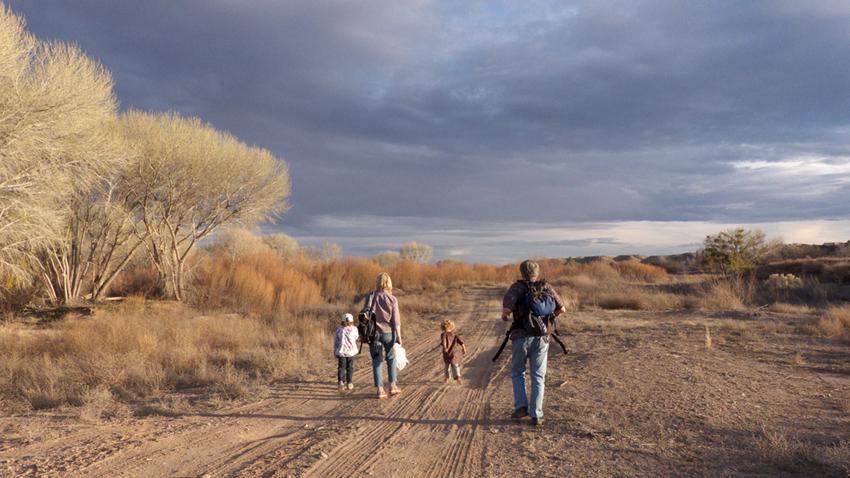 family birding in Duncan, Arizona