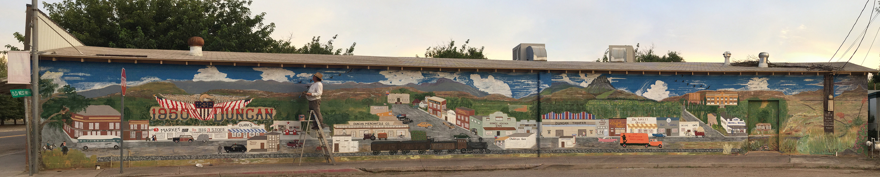 Duncan in the 50s Mural
