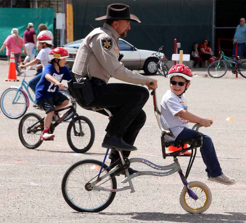 Duncan Sheriff on a Bicycle